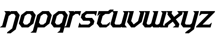 Warlords Bold Italic Font LOWERCASE