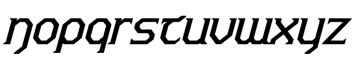 Warlords Italic Font LOWERCASE