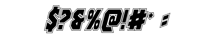 Warrior Nation Academy Italic Font OTHER CHARS