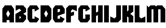 Warrior Nation Expanded Font LOWERCASE