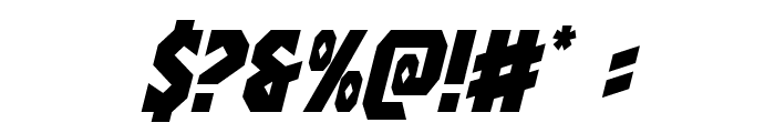 Warrior Nation Italic Font OTHER CHARS