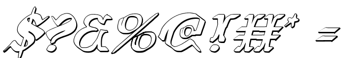 Wars of Asgard 3D Italic Font OTHER CHARS