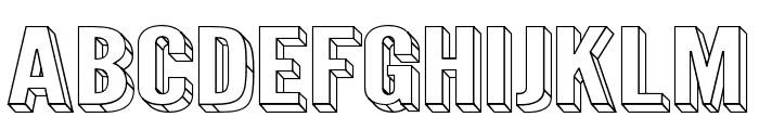 Warsaw Gothic SuperExtended 3D Font UPPERCASE