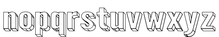 Warsaw Gothic SuperExtended 3D Font LOWERCASE