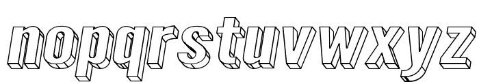 Warsaw Gothic SuperExtended Oblique 3D Font LOWERCASE
