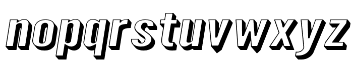Warsaw Gothic SuperExtended Shadow Oblique Font LOWERCASE