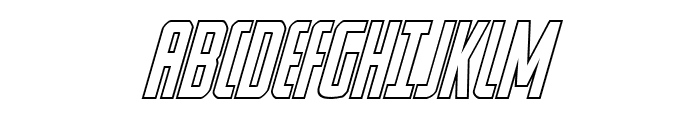 Watchtower Outline Italic Font UPPERCASE