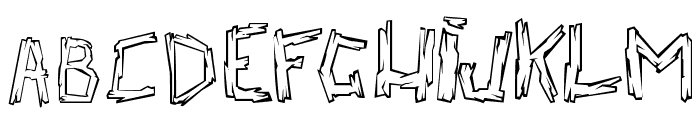 walk the plank Font LOWERCASE