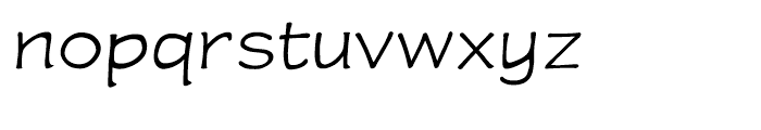 Wastrel Light Expanded Font LOWERCASE