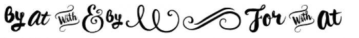 Wanderlust Letters Extras Font UPPERCASE