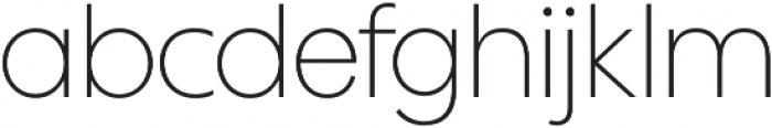 Wes FY Thin otf (100) Font LOWERCASE