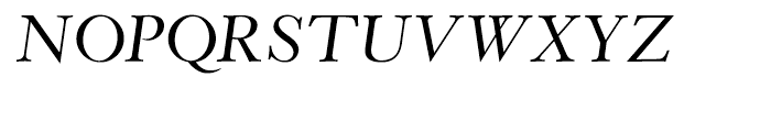 Wessex Italic Font UPPERCASE