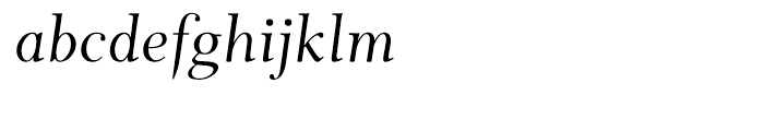 Wessex Italic Font LOWERCASE