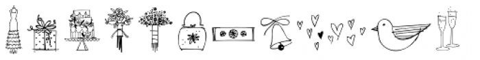 Wedding Doodles Too Font LOWERCASE