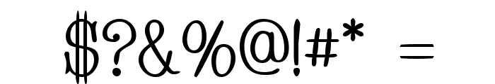 Whackadoo Upper Font OTHER CHARS