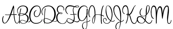 What I Want For Christmas Font UPPERCASE
