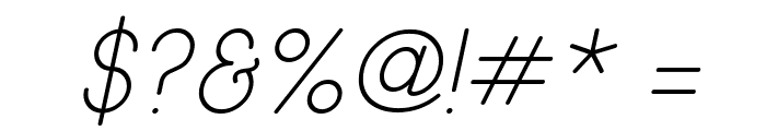 Wida Round Light Demo Italic Font OTHER CHARS
