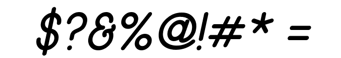 Wida Round SmallCaps Demo Italic Font OTHER CHARS