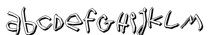 WildThingShadow Font LOWERCASE
