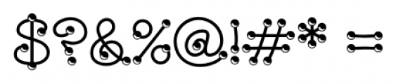 WILD2 Marbles & Strings Regular Font OTHER CHARS