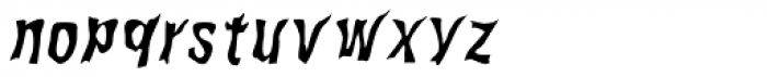 WILD2 Ghixm Normal Italic Font LOWERCASE