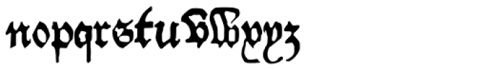 Willie Caxton Font LOWERCASE