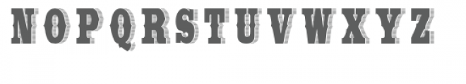 Wide Saloon Two Font LOWERCASE