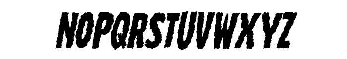 Wolf Brothers Staggered Italic Font LOWERCASE