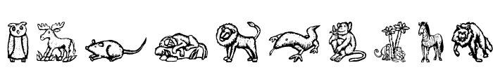 WoodcutAnimals Font OTHER CHARS