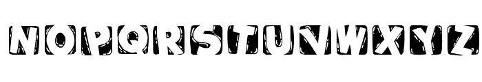 WoodcuttedCapsInvers Font UPPERCASE