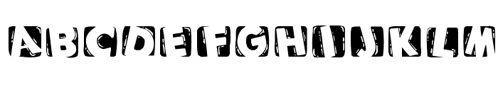 WoodcuttedCapsInvers Font LOWERCASE