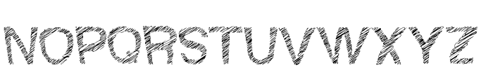 Woodcutter Fine Scketch Font UPPERCASE