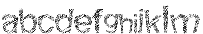 Woodcutter Fine Scketch Font LOWERCASE