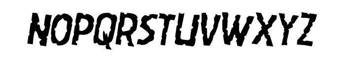 Worm Cuisine Rotated 2 Font LOWERCASE