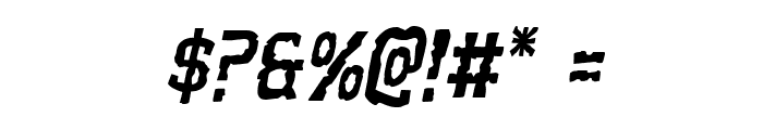 Worm Cuisine Staggered Italic Font OTHER CHARS