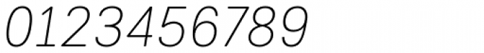 Woodford Bourne PRO Thin Italic Font OTHER CHARS
