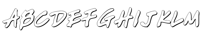 Write Off Oultine Font UPPERCASE