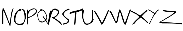 Writing You A Letter Font UPPERCASE