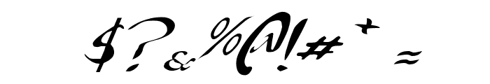 Xaphan Expanded Italic Font OTHER CHARS