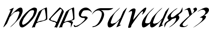 Xaphan Expanded Italic Font UPPERCASE