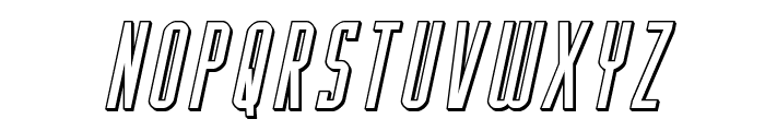 Y-Files 3D Italic Font LOWERCASE
