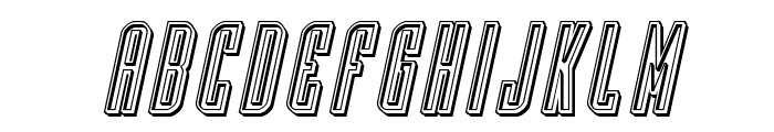 Y-Files Engraved Italic Font LOWERCASE