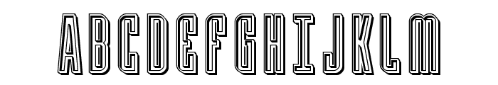 Y-Files Engraved Font UPPERCASE