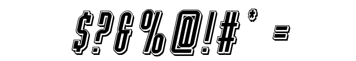 Y-Files Punch Italic Font OTHER CHARS