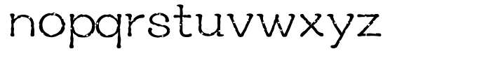 YD Reminiscence Light Font LOWERCASE