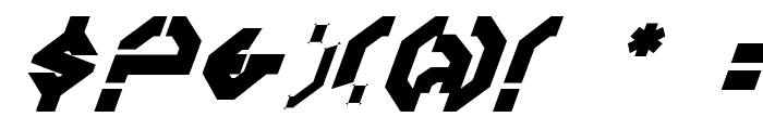 Year 3000Bold Italic Font OTHER CHARS
