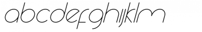 Yesterday Oblique Thin Font LOWERCASE