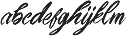 Young Blood Solid otf (400) Font LOWERCASE