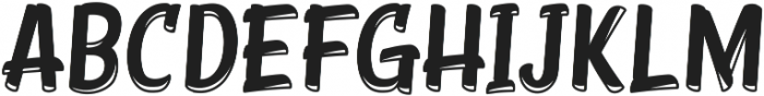 Young Coconut Display Inline ttf (400) Font UPPERCASE