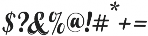 Young Coconut Script  otf (400) Font OTHER CHARS